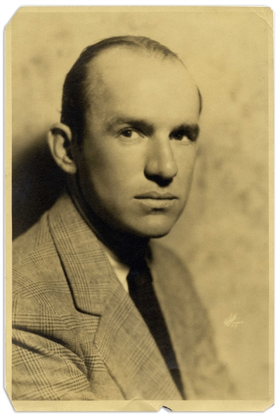 Three 8.25'' x 12.75'' Matte Portrait Photos From 1930 of (1) Ted Healy & (2-3) His Wife Betty Healy, Who Inscribes Both Her Photos to Moe & Helen -- Toning, Light Creasing & Chipping to Margins