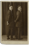 Photo of Moe & Shemp, on stage during their act as Howard and Howard From 1919 -- Matte Photo Measures 4.5 x 6.5 -- Good Condition With Tear Repaired on Verso
