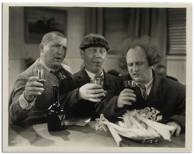 10 x 8 Glossy Photo From the 1934 Three Stooges Film Woman Haters -- Very Good Plus Condition