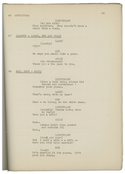 Moe Howard's 35pp. Script Dated March 1936 for The Three Stooges Film ''Half-Shot Shooters'' -- Very Good Plus Condition