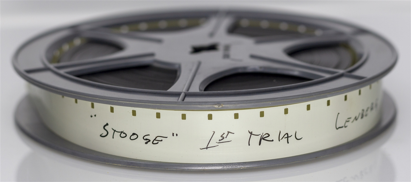 16mm Film Reel Labeled ''Three Stooges Home Movies'' -- Fantastic Content of Curly's Wedding, on the Queen Mary & at Dublin Zoo -- Run-Time Approx. 3:20 Minutes, Clip Online at NateDSanders.com