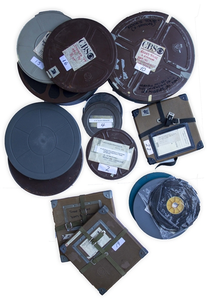 Twenty-Four 16mm Film Reels With Behind-the-Scene Footage From Uncivil War Birds & Back From the Front -- Moe & Shemp Display Their Fox Film Checks, Plus Three Stooge Films & Curly Goofing Off
