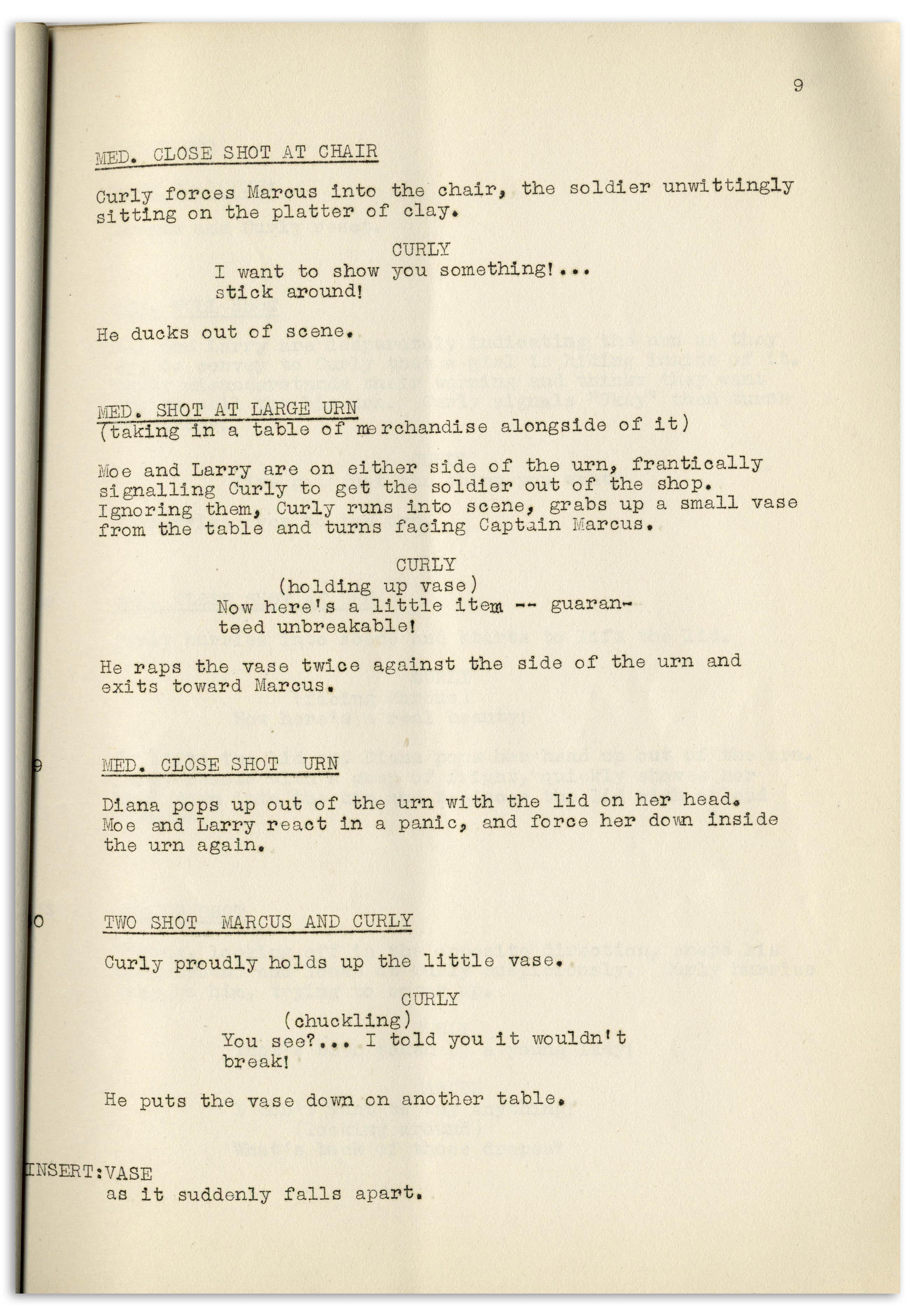 Lot Detail - Moe Howard's 30pp  Script Dated January 1942