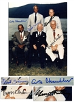 Cooperstown Hall of Fame Induction 8 x 10 Photo Signed by HOFers Bowie Kuhn, Monte Irvin, A.B. Happy Chandler and Team Owner, American League VP Gene Autry