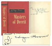 J. Edgar Hoover Signed First Edition of Masters of Deceit