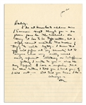 Dwight Eisenhower WWII Autograph Letter Signed -- ...to anyone else my writing would merely represent illiteracy or indifference...