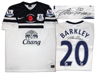 Ross Barkley Match Worn Everton Football Shirt Signed
