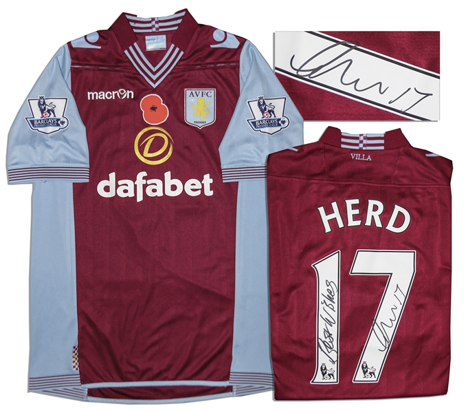 Aston Villa Jersey Worn & Signed By Chris Herd, #17