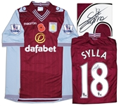 Aston Villa Jersey Worn & Signed By Yacouba Sylla, #18