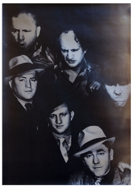 Lot of 34 Three Stooges' Posters, Lobby Cards & Large Photo From 1951-1965