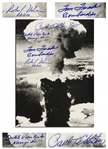 Enola Gay Crew-Signed Photo by Four Depicting the Atomic Bomb Blast