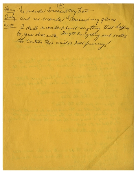 Moe Howard's Handwritten Signed Comedy Sketch for an Episode of ''The New Three Stooges'' -- Manuscript Spans Over 10 Pages