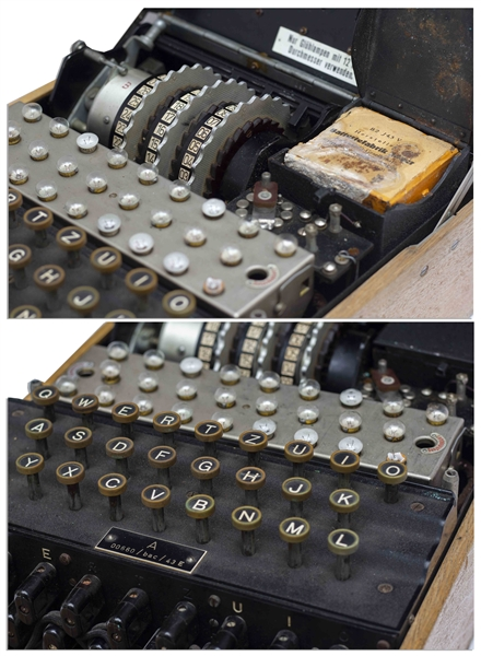 Enigma Machine Used by Germany During World War II -- Very Scarce, as Germans Were Ordered to Destroy the Machines to Prevent Capture by the Allies