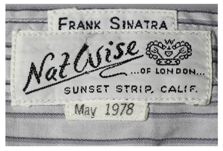 Frank Sinatra's Own Custom-Shirt With His Label