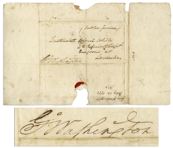 George Washington Autograph Free Frank Signature in 1779 as Commander-in-Chief of the Continental Army During the Revolutionary War
