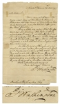 George Washington Autograph Letter Signed, With Bold Writing & Signature -- Washington Writes to His Nephew Bushrod Washington (Thus Signed Twice) Regarding a Singular Oddity in His Land Holdings