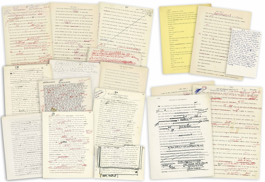 330+ Typed & Handwritten Pages of Moe Howard's Autobiography in Draft Form -- Many Pages Heavily Annotated by Moe: Sections Crossed Out, Others Added -- Most Pages Measure 8.5'' x 11'' -- Very Good
