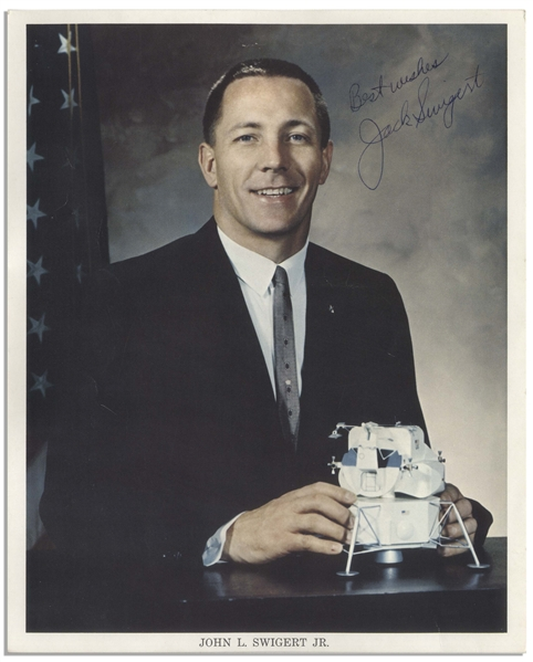 Jack Swigert Signed 8'' x 10'' Photo -- From His Personal Collection