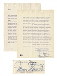 James Stewart Signed Contract for Strategic Air Command -- With Beckett COA