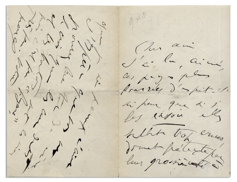 Marcel Proust Autograph Letter Signed From 1910 While Writing ''In Search of Lost Time'' -- ''...their coarseness giving a pretext for a refusal, always the formalists' preference...''