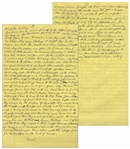 Moe Howards Handwritten Manuscript Page When Writing His Autobiography -- Moe Describes a Funny Story About Him & Ted Healy Going Alligator Hunting -- Two Pages on One 8 x 12.5 Sheet