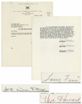 Snow White and the Three Stooges 1960 Contract Signed by Moe Howard, Larry Fine & Joe DeRita -- 22pp. Contract & Letters Regarding Film Include Compensation, Etc. -- 8.5 x 11, Near Fine