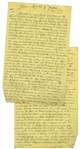 Moe Howards Handwritten Manuscript Page When Writing His Autobiography -- Moes Daughter Joan Is Born & The Three Stooges Move to LA to Film Soup to Nuts -- Two Pages on One 8 x 12.5 Sheet