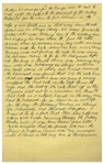 Moe Howards Handwritten Manuscript Page When Writing His Autobiography -- The Cats for A Night in Venice Escape Into the Theater until it was torn down years later -- Single 8 x 12.5 Page