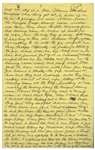 Moe Howards Handwritten Manuscript Page When Writing His Autobiography -- Larry Suspects Moe Hit Him With the Blueberry Pie, Hey wait a minute where is dead shot Moe --  Single 8 x 12.5 Page