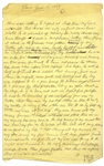 Moe Howards Handwritten Manuscript Page When Writing His Autobiography -- Moe Tells of His Birth, With His Dad Commenting He Looks Like a shriveled up monkey -- Single 8 x 12.5 Page