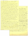 Moe Howards Handwritten Manuscript Page When Writing His Autobiography -- Moe Recounts Some Special Fan (& Police) Encounters, thats Moe of the 3 Stooges -- Two Pages on One 8 x 12.5 Sheet