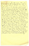 Moe Howards Handwritten Manuscript Page When Writing His Autobiography -- The Wrestling Bear Bit From A Night in Venice Goes Awry, the stunt cost [Shubert] $11,000 -- Single 8 x 12.5 Page