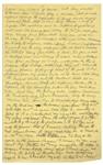 Moe Howards Handwritten Manuscript Page When Writing His Autobiography -- Moe Gets Paid to Act, I was happy doing what I loved best and helping the family -- Single 8 x 12.5 Page