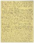 Moe Howards Handwritten Manuscript Page When Writing His Autobiography -- Moes Lie Is Exposed, True I had lied...and cheated my way into the situation -- Single 8 x 10.25 Page
