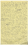 Moe Howards Handwritten Manuscript Page When Writing His Autobiography -- Moe Tells of Skipping School & Wanting to Be an Actor, an awful time with the truant officers -- Single 8 x 12.5 Page