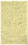 Moe Howards Handwritten Manuscript Page When Writing His Autobiography -- Moes Family Reacts to His New Bowl Haircut, Now he is really ugly -- Single 8 x 12.5 Page