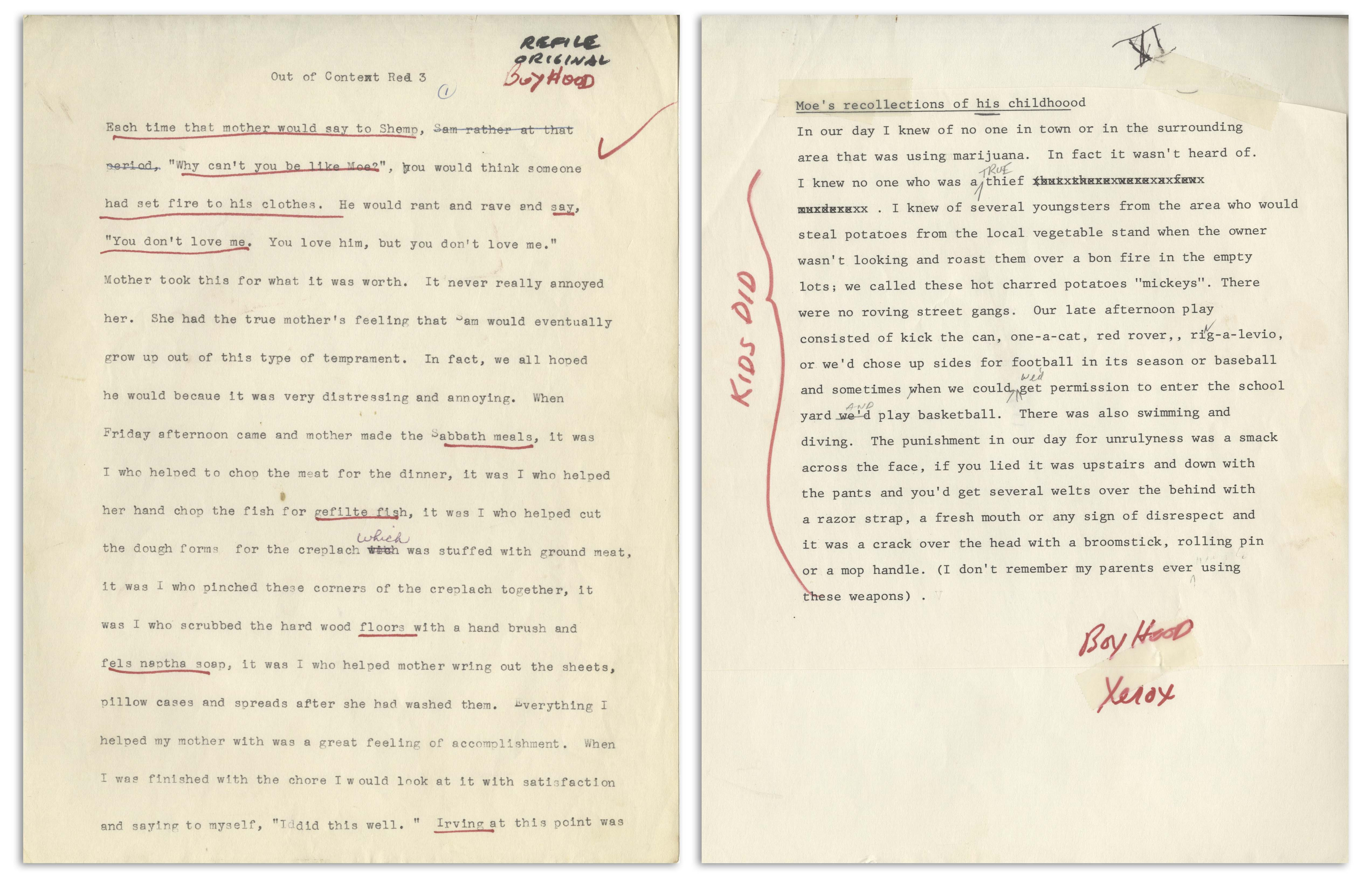 Lot Detail - Moe Howard's 145pp  Typescript of His