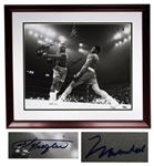 Muhammad Ali & Joe Frazier Signed 20 x 16 Photo From the Fight of the Century -- With Steiner COA