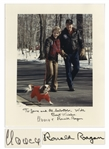 Ronald and Nancy Reagan Signed 8 x 10 Photo -- With JSA COA