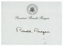 Ronald Reagan Signed Presidential Post-It