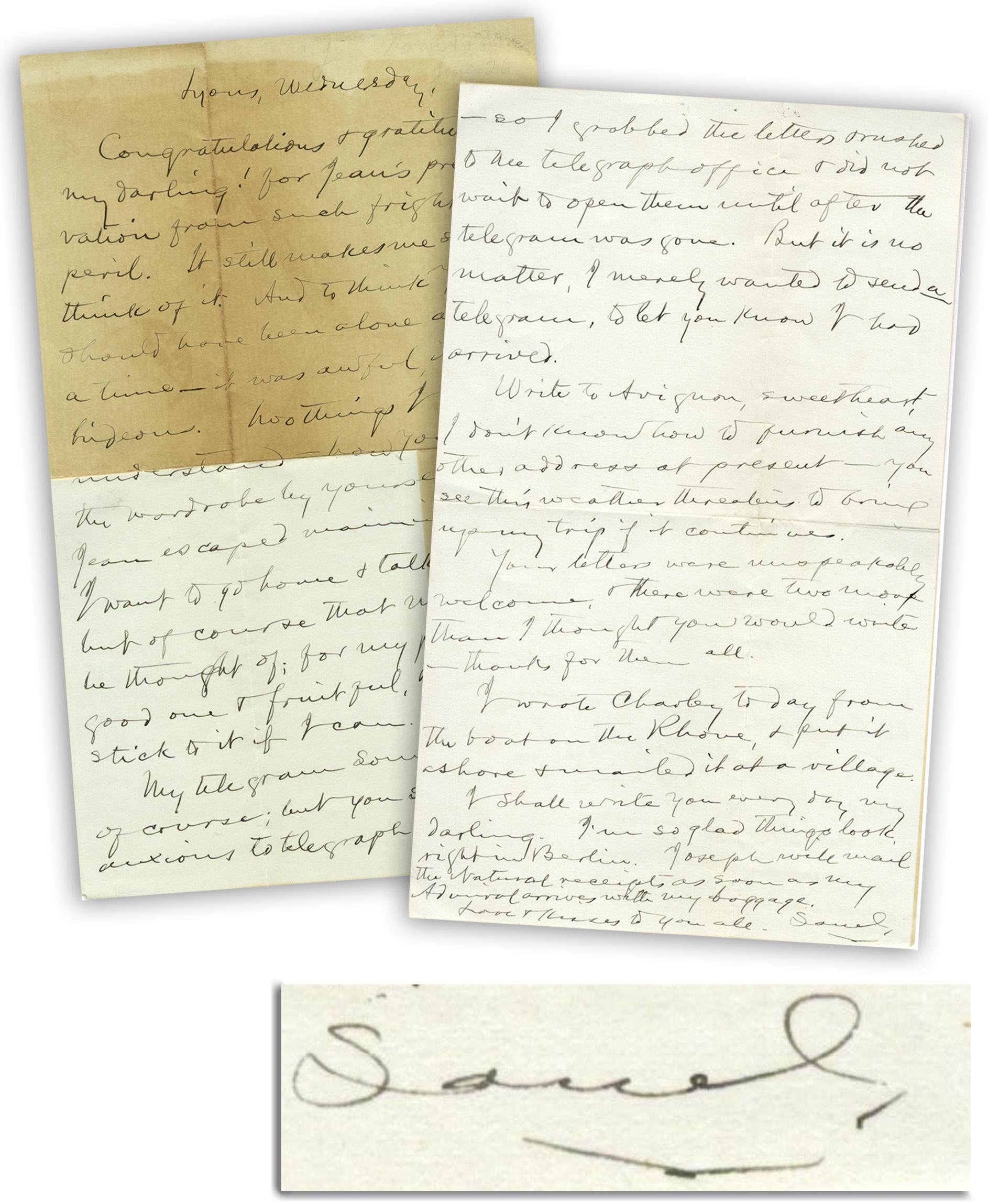Item Detail - Very Personal Samuel Clemens Autograph Letter