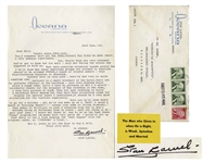 Stan Laurel Letter Signed With Strong Anti-Jewish Content -- ...I dont know why those swasticka groups are allowed to function shouldnt be allowed PERIOD...