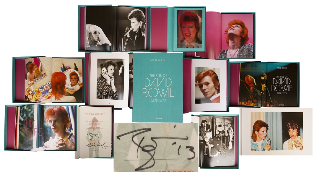 David Bowie Signed Limited Edition of ''The Rise of David Bowie, 1972-1973'' -- Taschen Book With Fantastic, Personal Images of Bowie From His Early, Ziggy Stardust Days