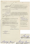 Larry Fine Contract Signed Three-Times With Comedy III Productions, Dated May 1959 -- Initialed in Several Places as Well -- 12pp. Measures 8.5 x 11 -- Very Good Condition