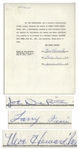 Three Stooges Signed Agreement With Atlantic City Steel Pier Co., Dated June 1959 -- Signed by Moe Howard, Larry Fine & Joe DeRita -- Single Page Measures 8.5 x 11 -- Very Good Condition
