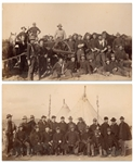Two Original Photographs From 1890-91, at the Time of the Wounded Knee Massacre -- Photographs Show Federal Forces Arriving in Pine Ridge to Combat the Ghost Dancers