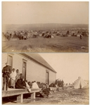 Two Original Photographs From 1890-91, From the Time of the Wounded Knee Massacre -- One Photograph Shows the Sioux on Ration Day & Other Shows the Camp of Two Strike & Crow Dogs