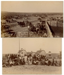 Two Original Photographs From 1890-91 of the Pine Ridge Agency, Near the Site of the Wounded Knee Massacre