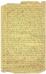 Moe Howards Handwritten Manuscript Page When Writing His Autobiography -- Moe Recounts Curlys Gun Accident, the bullet entered his foot at the ankle -- Single 8 x 12.5 Page