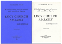 Gertrude Steins Lucy Church Amiably First Edition -- Scarce Book by the Author Who Coined the Term Lost Generation